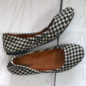 Lucky Brand houndstooth Emmie ballet flats shoes